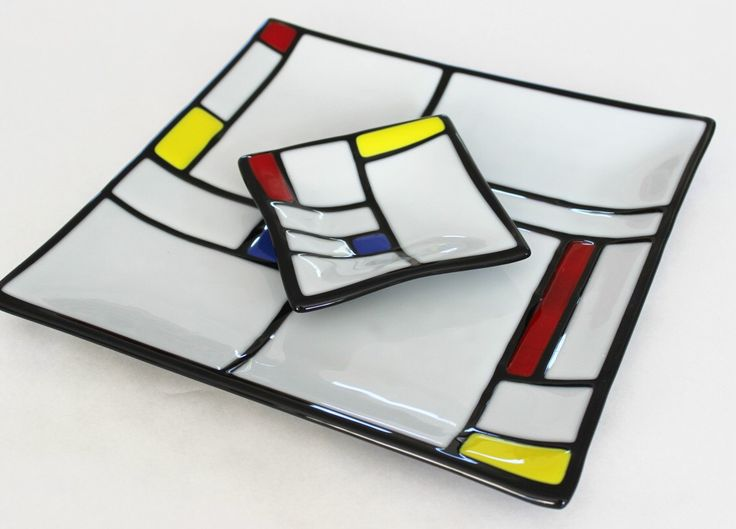 AS SEEN ON Great American Country Channel - Mondrian Style Fused Glass Chip and Dip, Glass Serving Set, Modern Art, Wedding Gift, Under 100 by SunflowerGlassworks on Etsy https://www.etsy.com/listing/228636931/as-seen-on-great-american-country