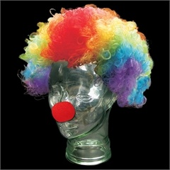 RAINBOW CLOWN WIG. A tad scary but it's what all over the Madagascar 3 Movie Posters!
