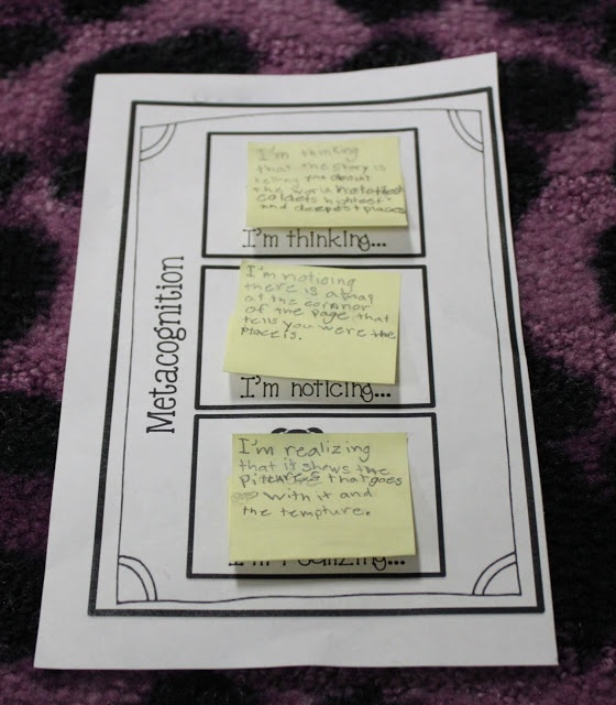 Sticky Note Jot Spots for Accountable Talk! - can't believe pinterest has metacognition pins... #geeklove