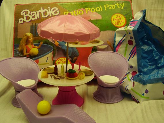 Barbie Patio Pool Party I Had This Entire Set