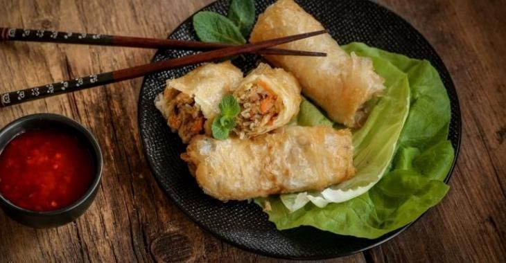 Egg Roll maison cuit au four...
