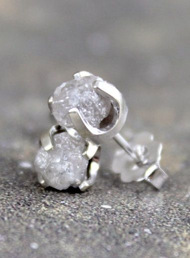 Rough Diamond Earrings <3