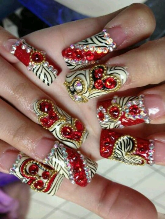 116 best Uñas largas images on Pinterest | Nail design, Nail ...