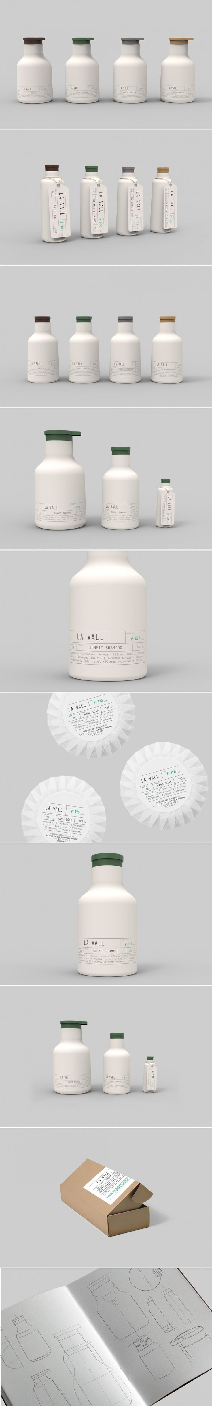 La Vall Is an Elegant Minimalistic Personal Care Concept — The Dieline | Packaging & Branding Design & Innovation News