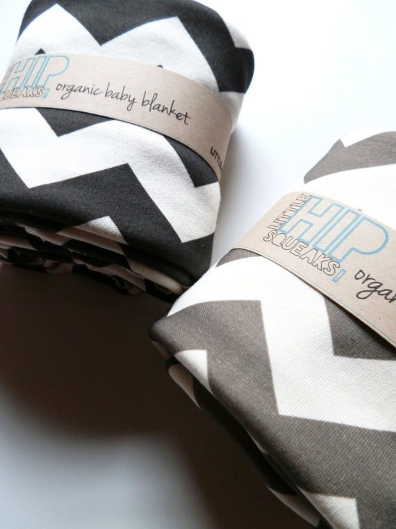 Swaddling Blanket, Chevron, Your Color Choice, Chevron Baby Bedding. $42.80, via Etsy.