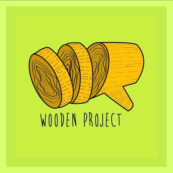 Wooden project logo.   #logo #wood #penmyweapondesign