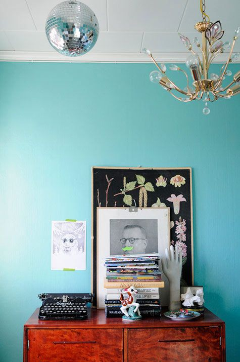 Tiffany blue walls