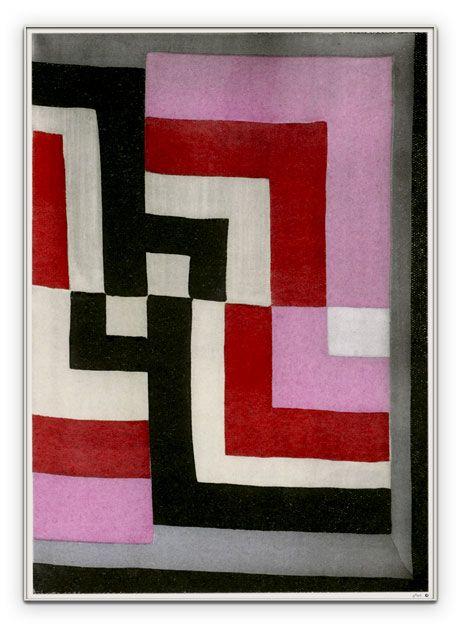 Sonia Delauney Shawl. Mod quilt inspiration.