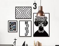 Modern Minimalist Black White Letter Geometry Print Poster Wall Picture Canvas Art Painting No Frame Living Room Home Decor