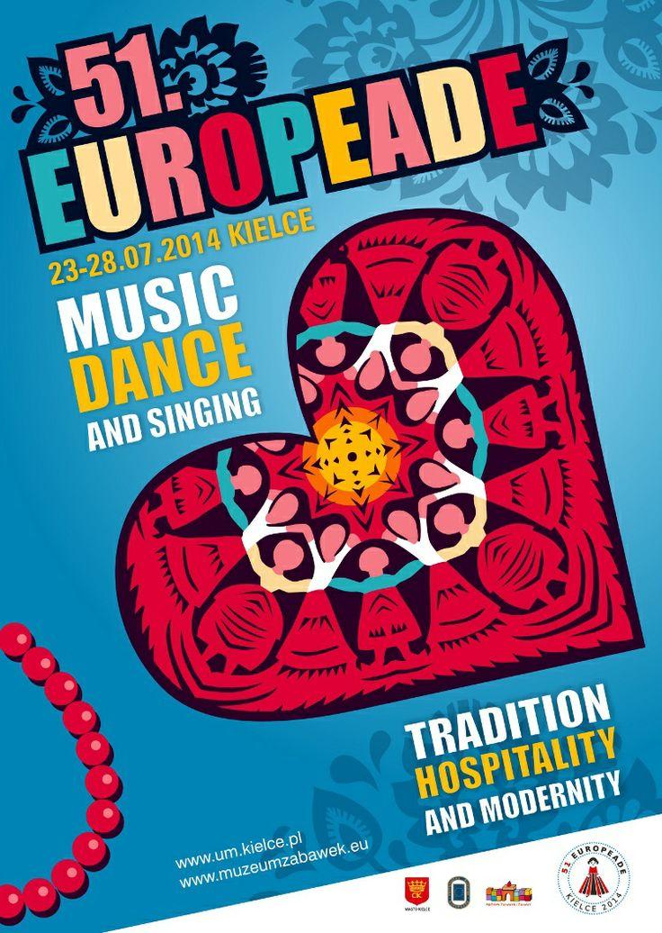 3500 tancerzy i śpiewaków z ponad 20 państw europejskich, 10 scen, setki występów – już wkrótce w Kielcach! 51. edycja festiwalu Europeada odbędzie się w dniach 23-27 lipca 2014. Więcej informacji na stronie: http://www.europeade2014.kielce.eu/