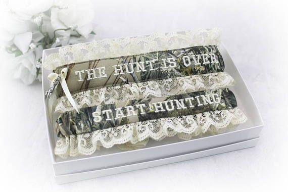 Camo Wedding Garter Set Camouflage Wedding Garters  Hunting