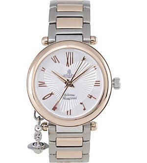 VIVIENNE WESTWOOD Orb rose gold and silver ladies' watch (Silver