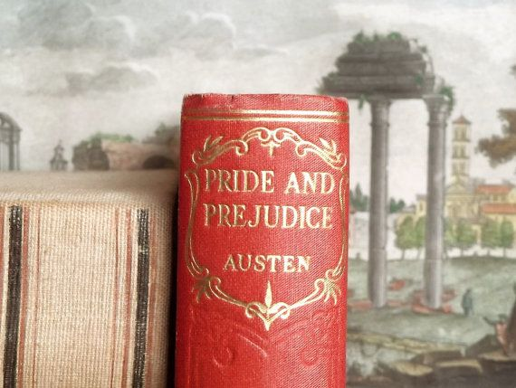 Pride and Prejudice vintage book by Jane Austen by EAGERforWORD, £25.00  This is a great display book
