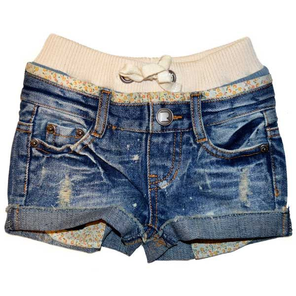 Daisy Cut-Off Denim Shorts | Rock Your Baby
