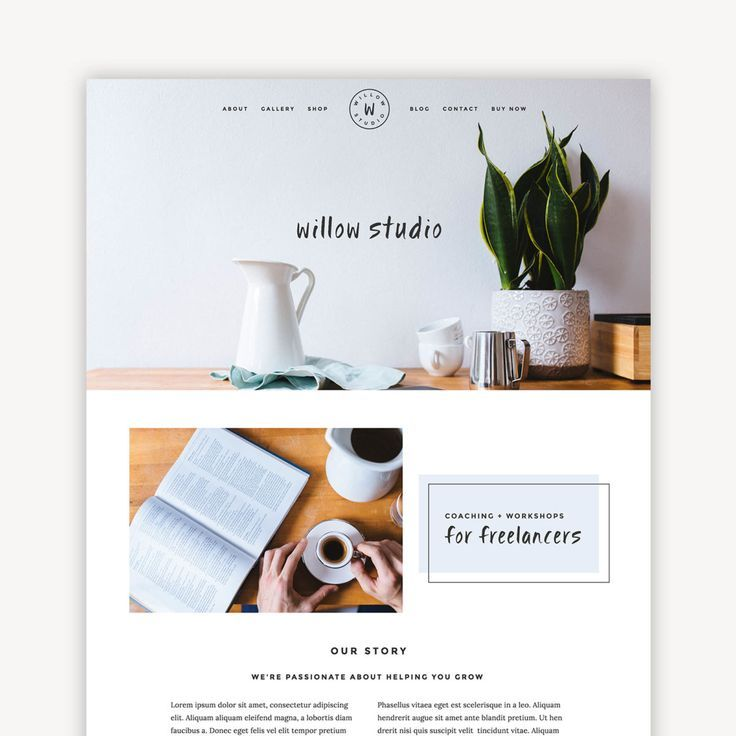 Willow is a premium squarespace website theme perfect for bloggers