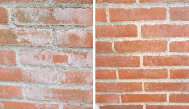 Got white stains on your brick wall or garden tiles? With this trick you can easily get rid of them!