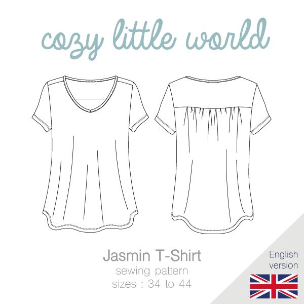 Jasmin is a loose fitting T-Shirt with a feminine cut. The T-Shirt has a flared bottom, which creates a very nice silhouette and ensures absolute...