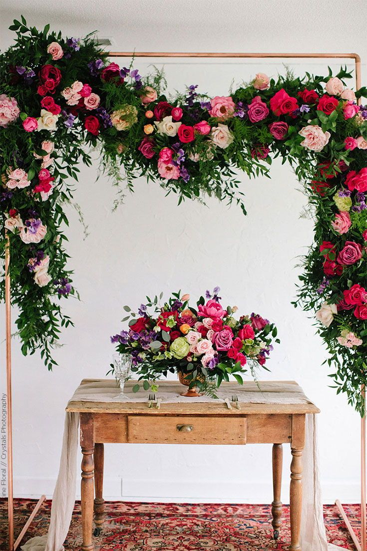 Luxurious Silk Flower Wedding Backdrop And Centerpiece Wedding