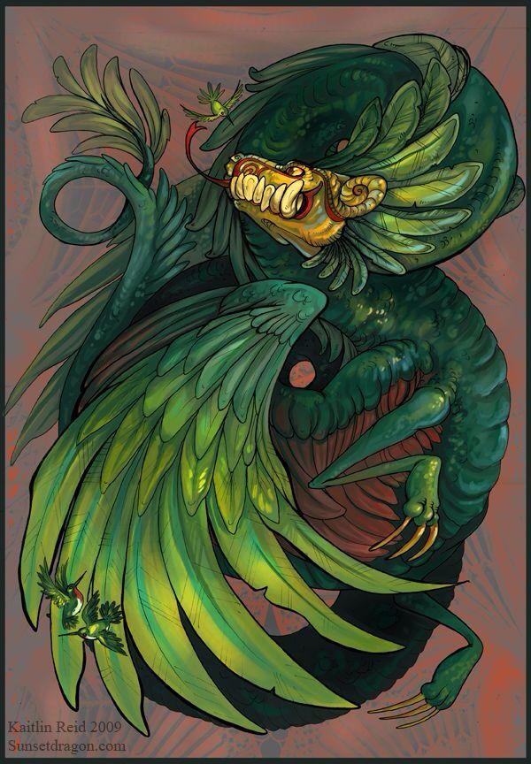 Quetzalcoatl... at least a POC legend rather than European? Lol
