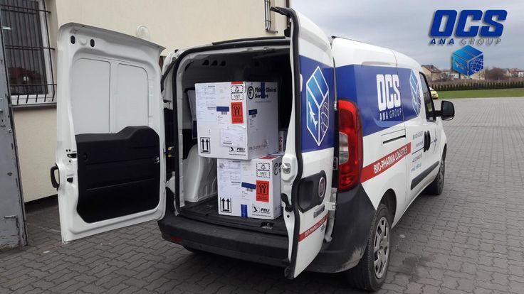 Transport leków zarówno drogowy jak i lotniczy o różnych wymaganiach temperaturowych realizowany jest dzięki nowoczesnym opakowaniom, które zapewniają utrzymanie stałej temperatury. Specjalistyczne opakowania do transportu leków mogą być również wypożyczone przez firmę OCS do realizacji zamówienia.