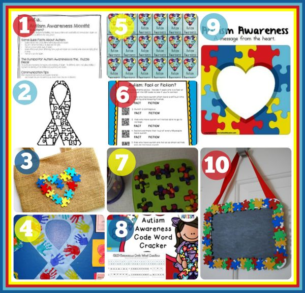 17 best ideas about autism awareness crafts on pinterest for Craft ideas for autistic students