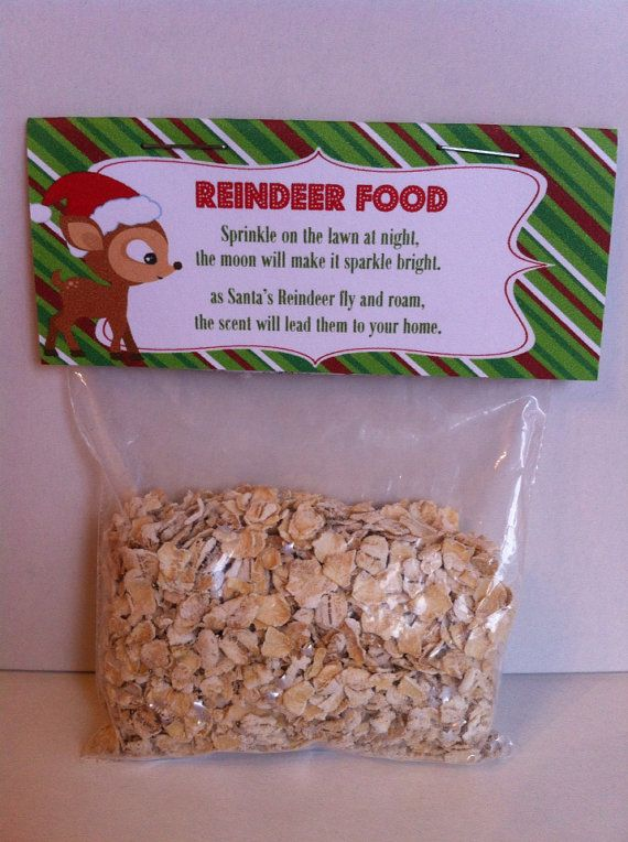 Reindeer Food Printable Treat Bag Topper  by SweetDesignsbyRegan, $5.00