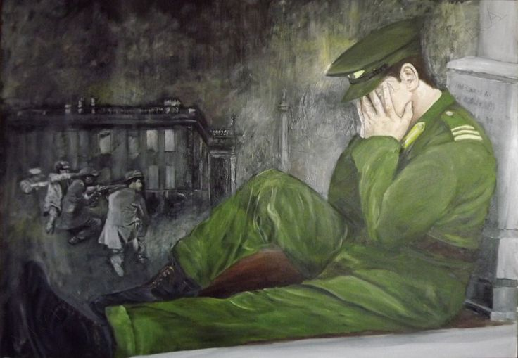 Why, This was painted to commemorate the 100 anniversary of the 1916 Easter Rising and the history that go's with it in Ireland  = 1916 - 2016,