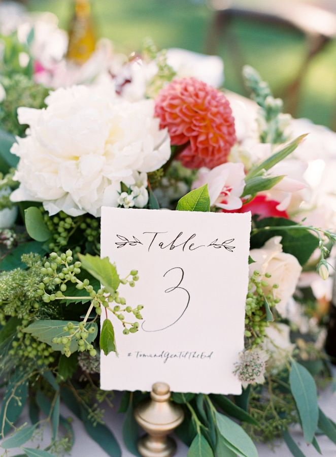 classic summer table number httpwwwstylemeprettycomlittle