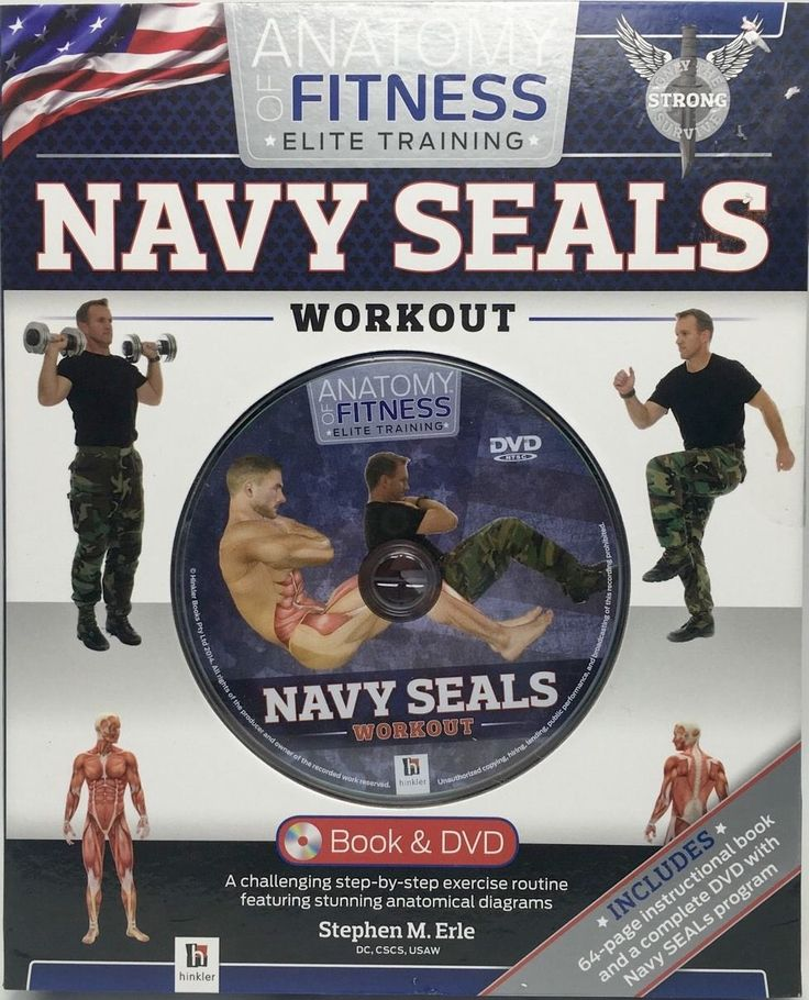 DVD Navy Seals Boot Camp Workout Book and DVD Training Set Book