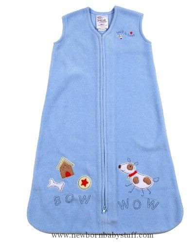 Baby Boy Clothes HALO SleepSack Applique Micro-Fleece Wearable Blanket, Blue Dog, Small