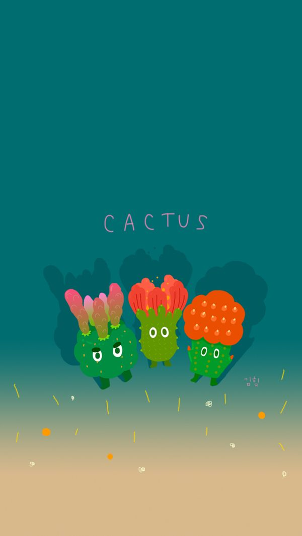 Cactus_ iphone5 wallpapers by Heekyeong Kim, via Behance