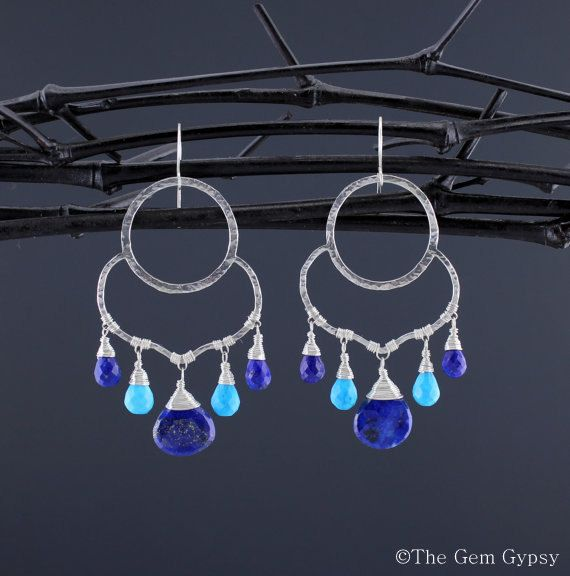 Lapis & Turquoise Earrings Turquoise and Lapis by TheGemGypsy