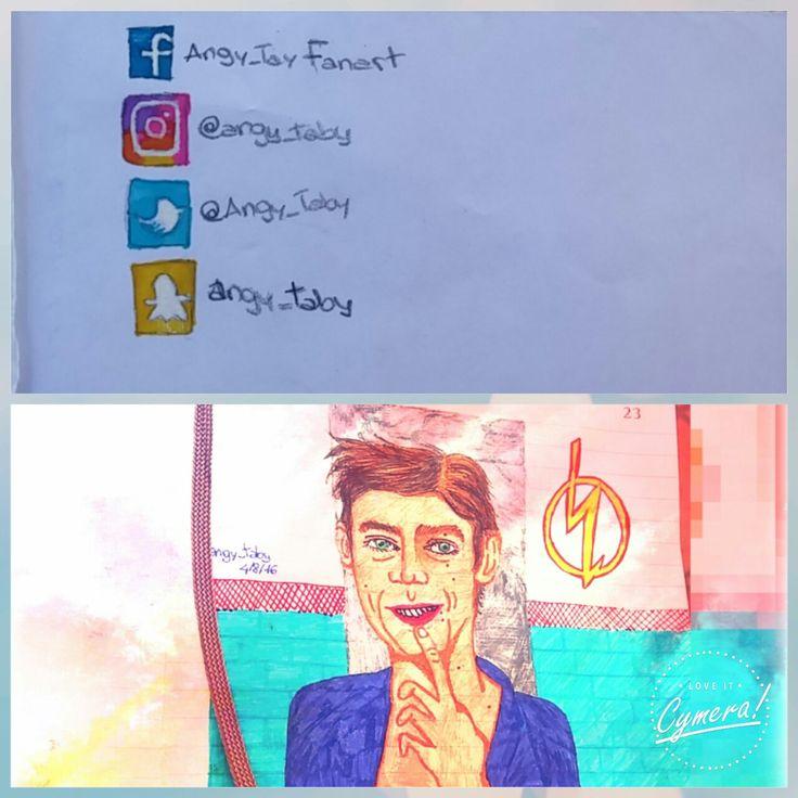 Barry Allen ( Grant Gustin) The Flash #grantgustin #barryallen #theflash #tvseries #artwork #drawing #illustration #fanart #portrait #actor