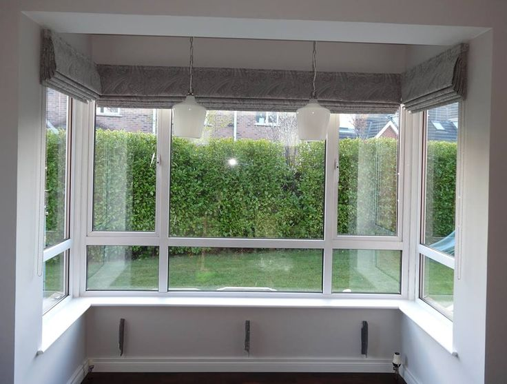 158 best images about finished projects on pinterest for Roman shades for bay windows