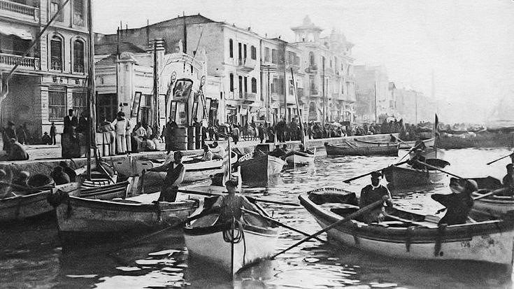Λεωφόρος Νίκης 1916-Διακρίνονται ο κινηματογράφος Ολύμπια-,Πατέ και το ξενοδοχείο Σπλέντιτ.