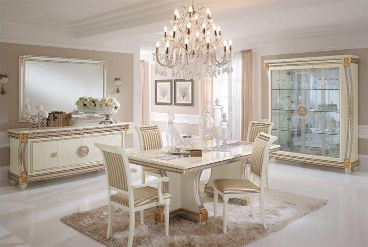 de mesa, mesas de comedor, productos de lujo Liberty hechas en Italia, en madera tallada a mano