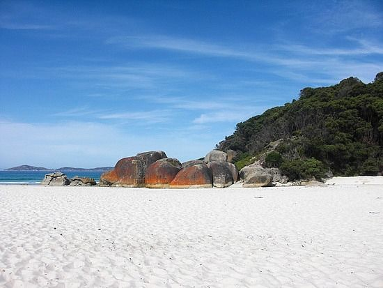 Beautiful Squeaky Beach at Wilson's Prom NP. It got its name from the squeaky sound that your feet can make with the sand