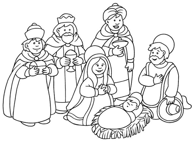 El Nacimiento De Jesus Para Dibujar. Colorear Virgen Mara Con El Nio ...