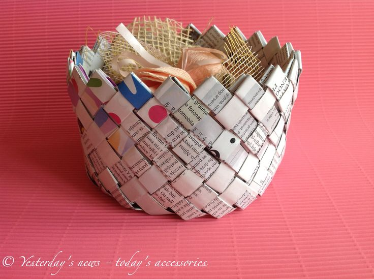 Basket by Yesterday's news - today's accessories