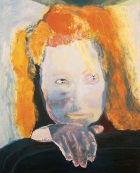 """Marlene Dumas, Het Kwaad is Banaal (Evil is Banal), 1984, oil on canvas, 49 3/16"""" x 41 5/16"""