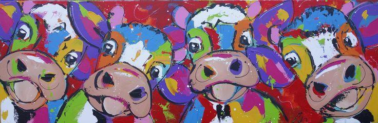 Cow party - www.vrolijkschilderij.nl