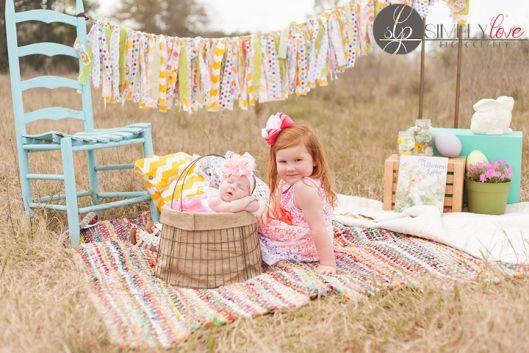Easter Mini Session, Family, Children, Little girl, Baby, Newborn