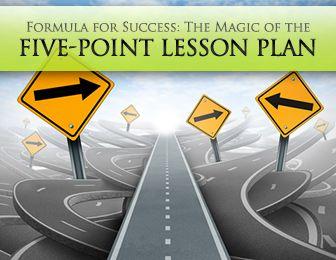 Five point lesson plan e s l pinterest lesson plans five points