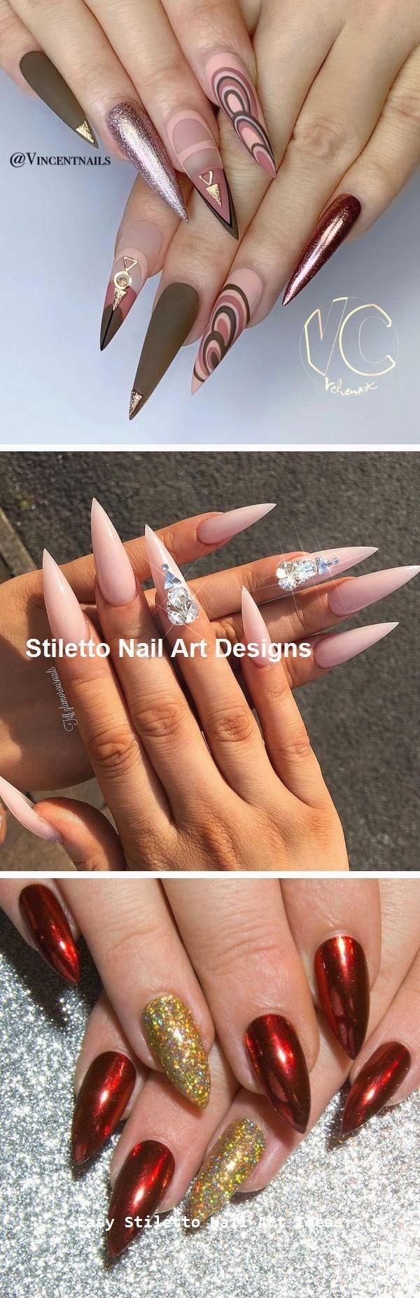 30 große Stiletto Nail Art Design-Ideen #nailideas – Nageldesign