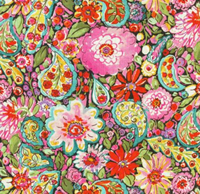 Colorful Curtains, Pink Blue Window Curtains, Bright Floral Drapes, Girlu0027s  Paisley Bedroom Curtains