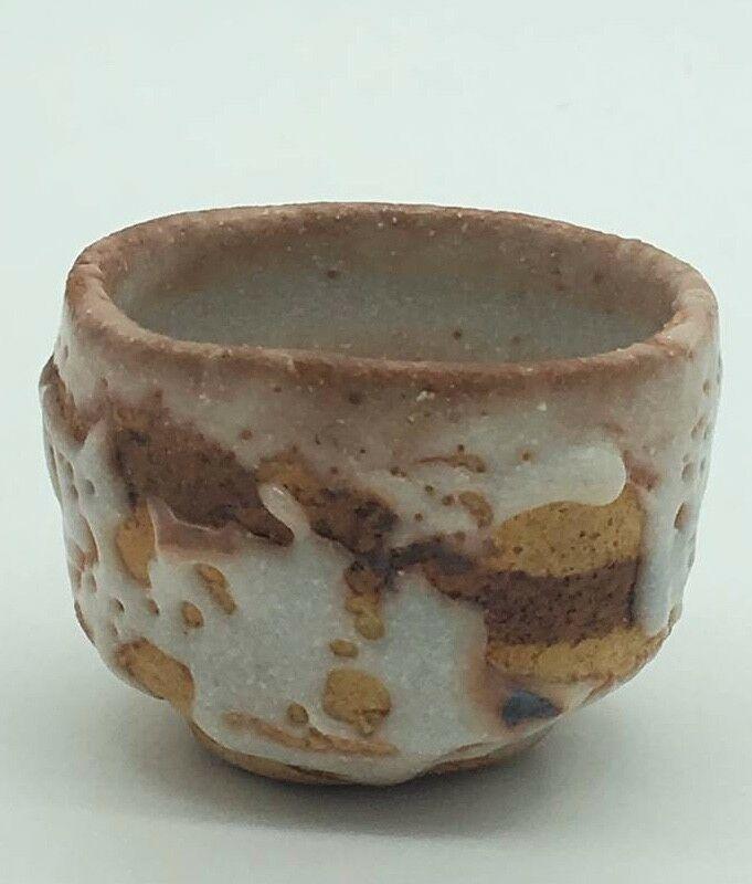 Japanese Tea Cup Hagi Yaki Pottery Tea Cup Nice Glaze Signed Japanese Tea Cups Japanese Pottery Tea Cups