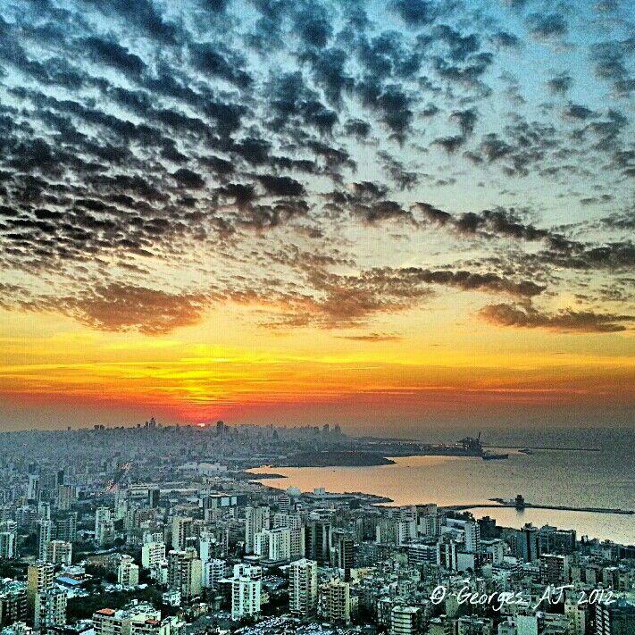 Beirut Sunset, Lebanon