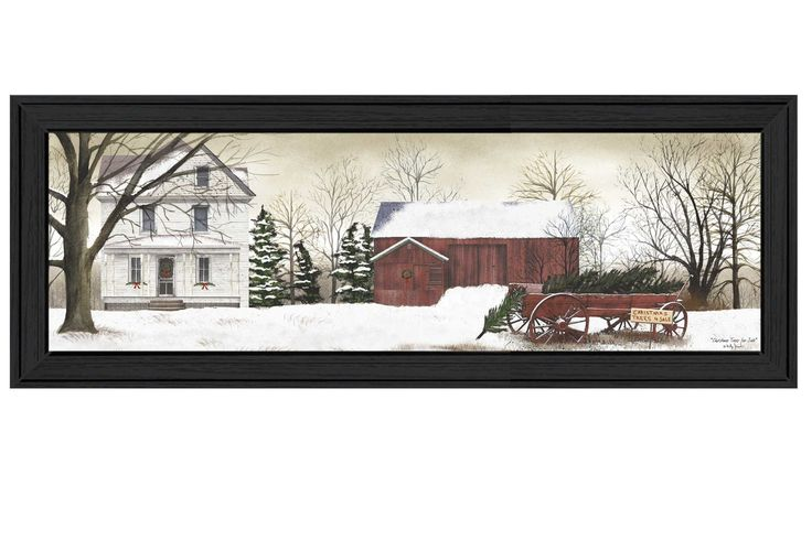 Christmas Trees for Sale by Billy Jacobs Framed Painting Print