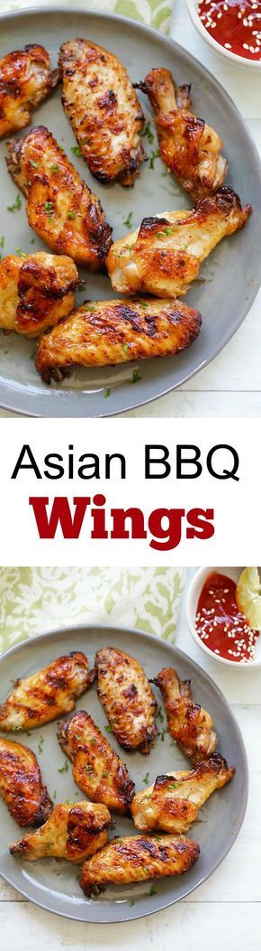 Asian BBQ Wings – Amazing chicken wings marinated with ginger, garlic, soy sauce and honey. Easy recipe you must try in summer!