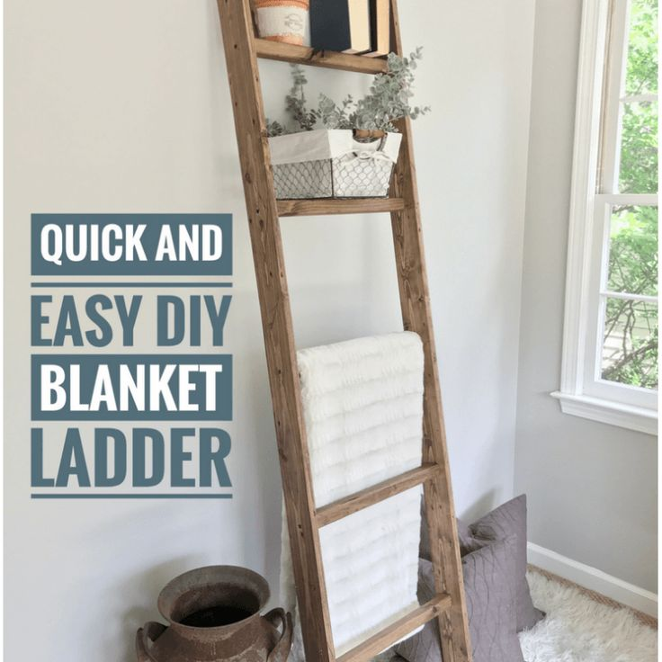 Ugly Home Office Makeover - Part 8(a): The Simple DIY Blanket Ladder - Beautiful Life Market